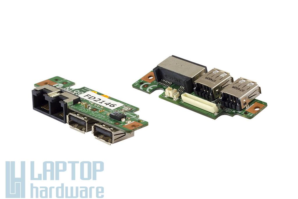 MSI Megabook M673X-MS1635 laptophoz használt USB-LAN-MODEM panel (MS-16352)