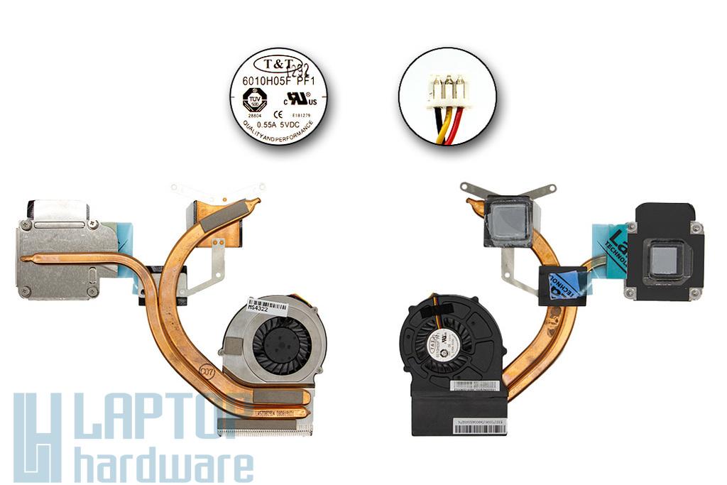 MSI EX620, EX623, EX625, EX630 használt komplett laptop hűtő ventilátor, E32-1700061-TA9
