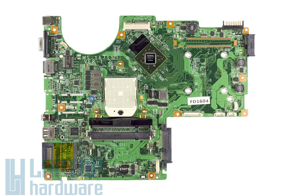 MSI EX630, VR630X (MS-16711) használt laptop alaplap, motherboard