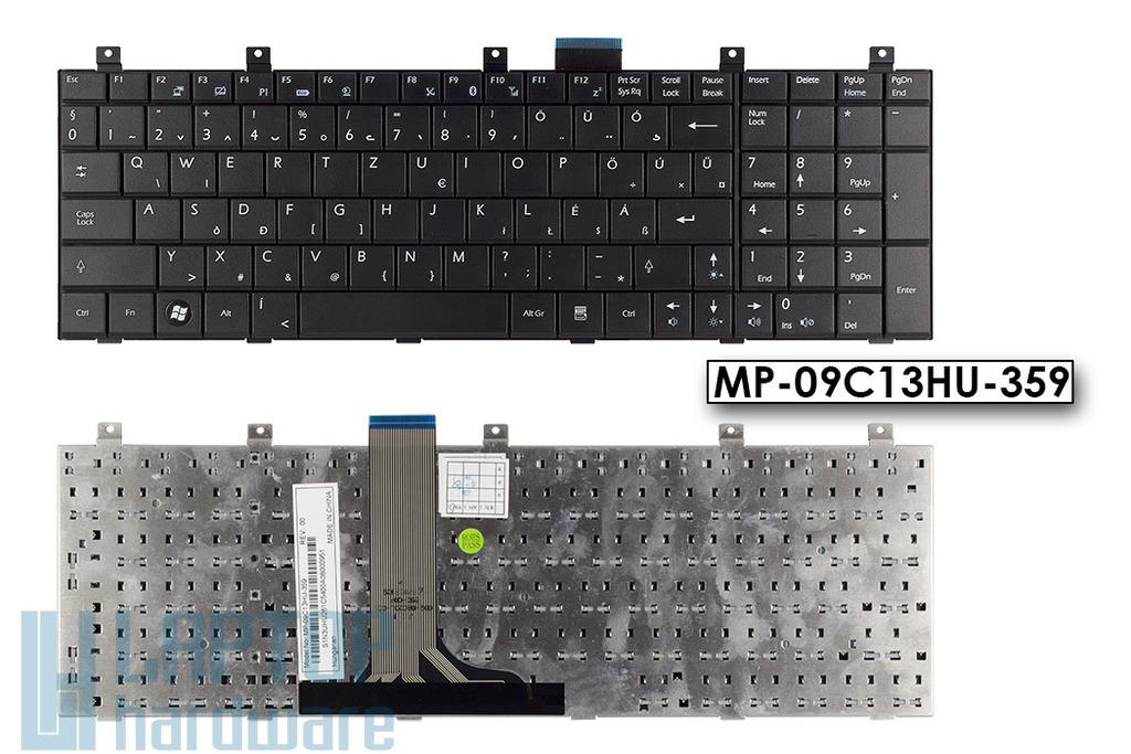 MSI GE600, GE603, X600 Gyári új fekete magyar laptop billentyűzet, MP-09C13HU-359