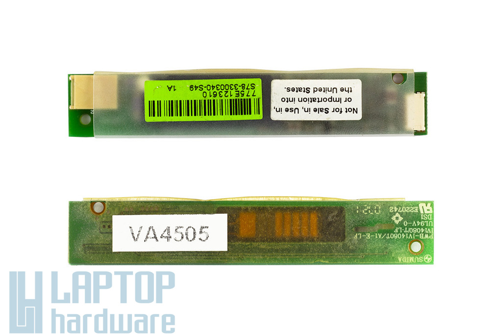 MSI GX610,GX630X M670, MS-1034,VR610,VR610X,MS-16362 használt LCD inverter (S78-3300340-S49,PWB-IV14080T/D4-E-LF,YPWBGN036IDG)