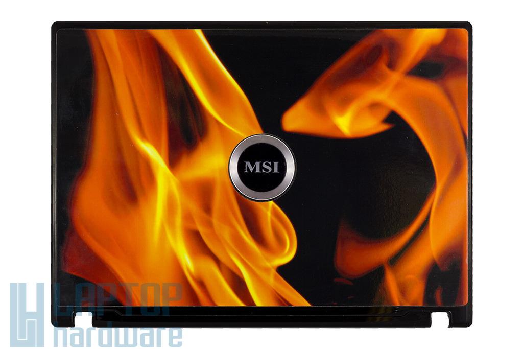 """MSI GX610, M670, MS-1034, VR610, VR610X laptophoz használt LCD hátlap (37-632A917-H74) """"C"""" kategóriás"""
