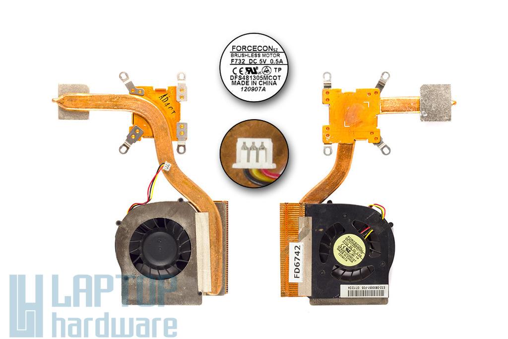 MSI GX700, LG R700 laptophoz használt komplett hűtés (E32-0800051-F05)