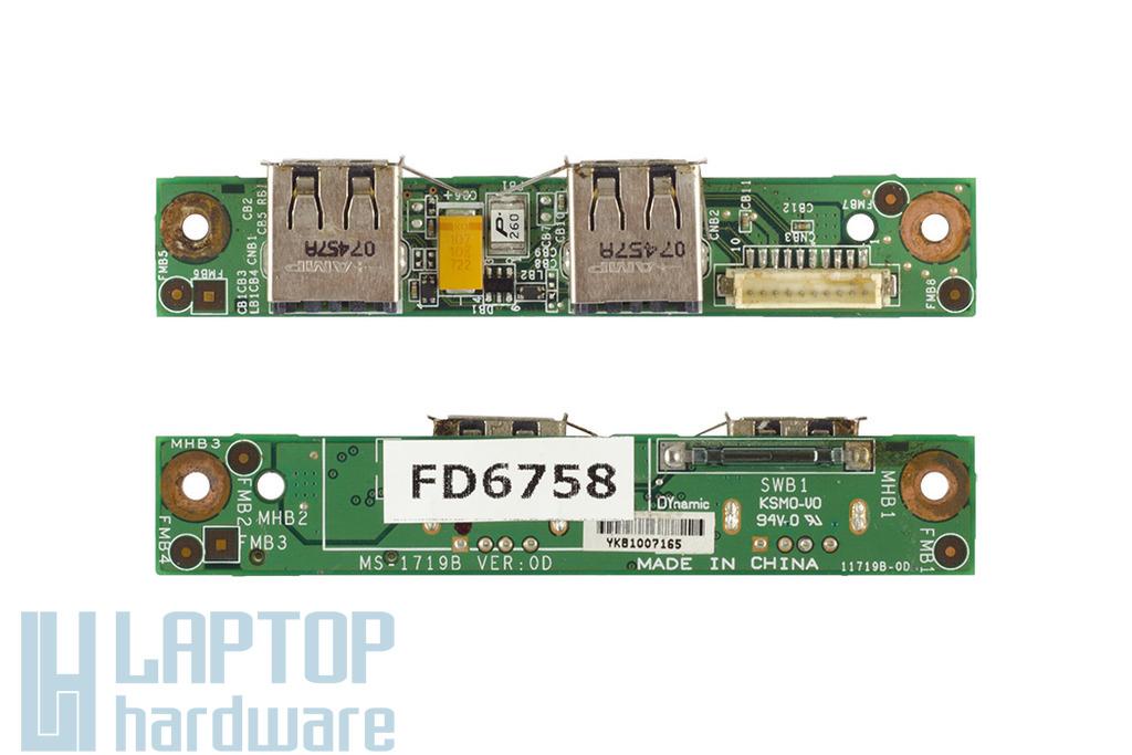 MSI GX700-MS1719 laptophoz használt USB panel (MS-1719B)