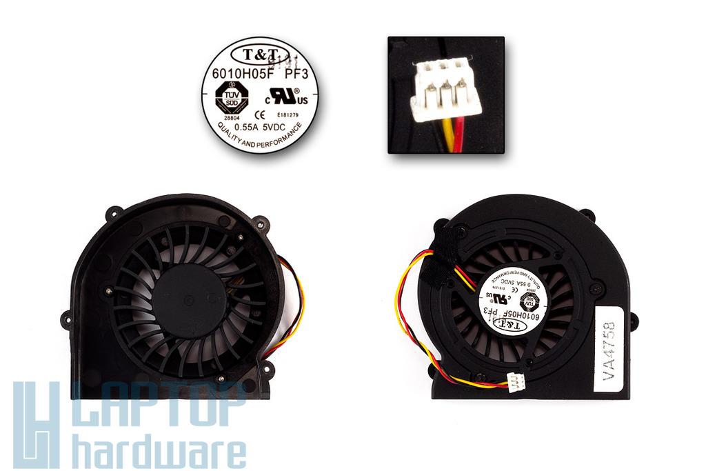 MSI gyári új komplett laptop hűtő ventilátor (6010H05F PF3)