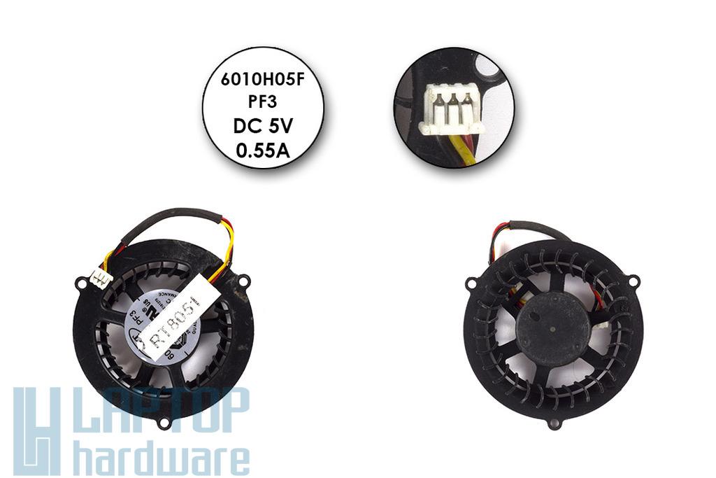 MSI laptophoz 6010H05F, PF3 Gyári használt hűtő ventilátor