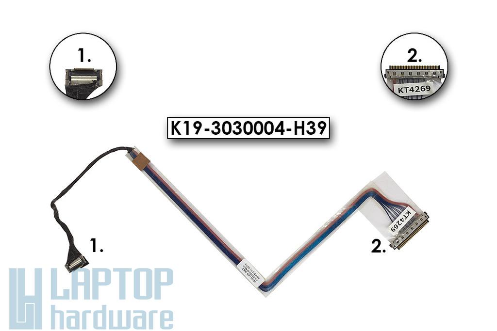 MSI M620, M645, MS-1032 laptophoz használt kijelző kábel, K19-3030004-H39