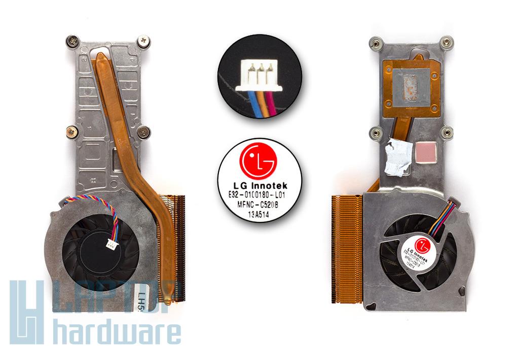 MSI Megabook 520, M520B használt laptop hűtő ventilátor (E32-0100180-L01)