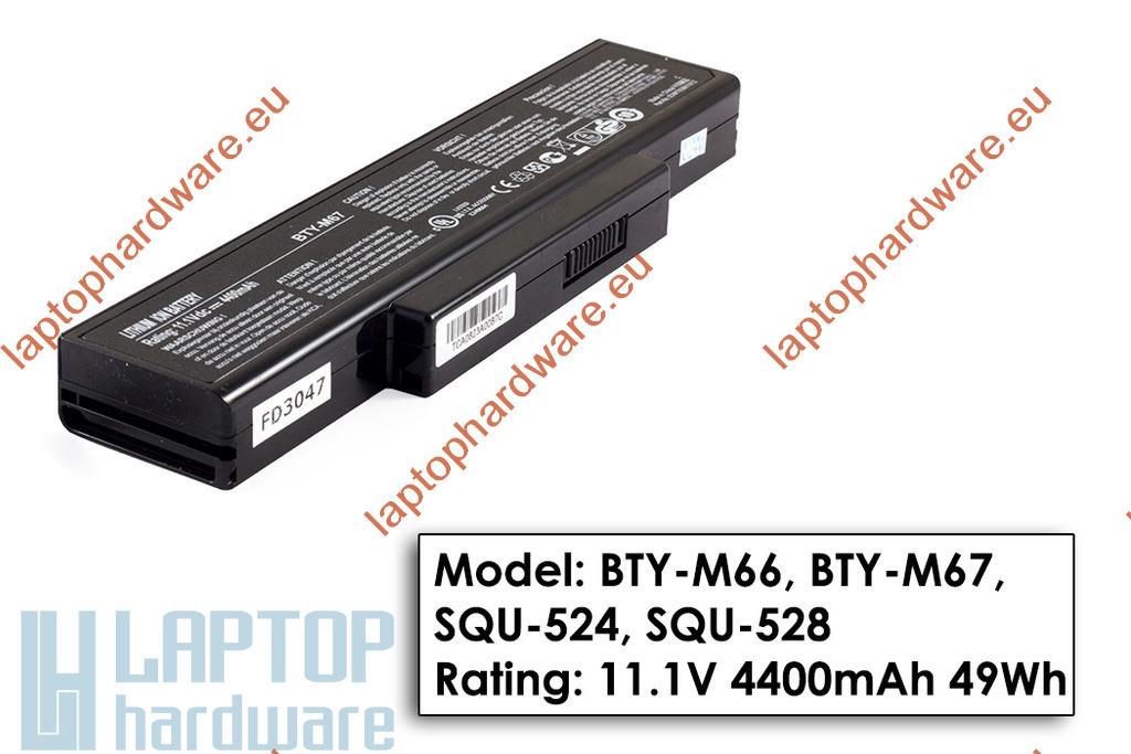 Asus A9, X55 MSI MegaBook EX600, M660 használt 80%-os 6 cellás laptop akku/akkumulátor (BTY-M66, BTY-M67)