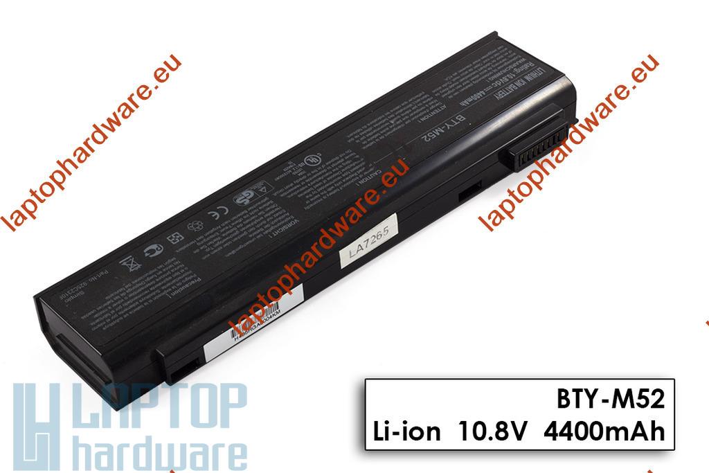 MSI MegaBook EX700, GX700, L745 használt 6 cellás 50%-os laptop akku/akkumulátor (BTY-M52)