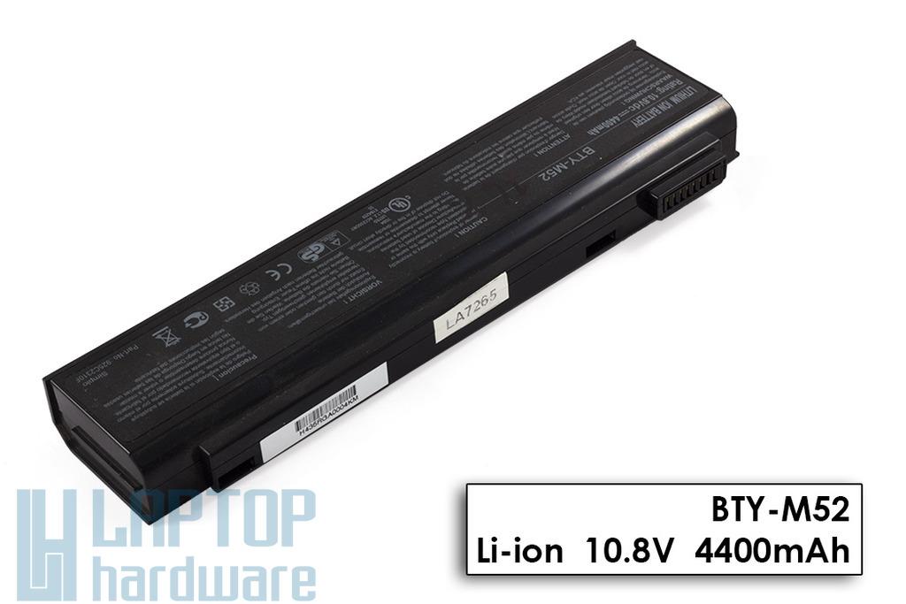 MSI MegaBook EX700, GX700, L745 használt 6 cellás 80%-os laptop akku/akkumulátor (BTY-M52)