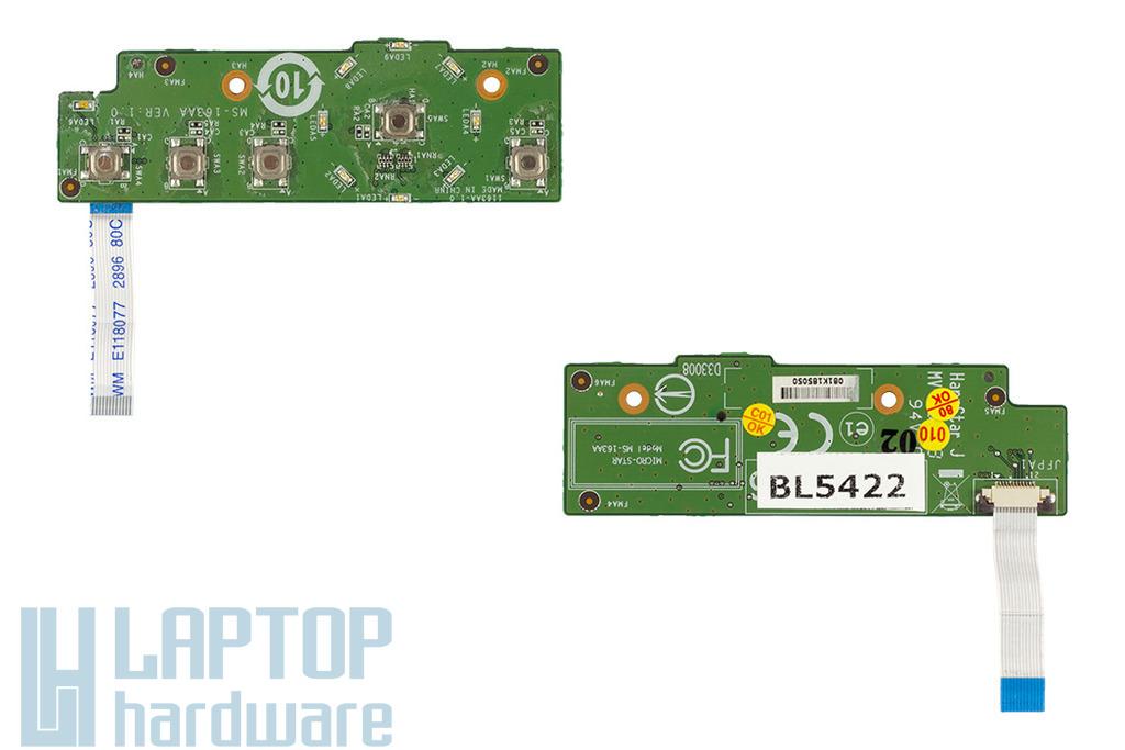 MSI Megabook GX600 laptophoz használt bekapcsoló panel kábellel (MS-163AA)