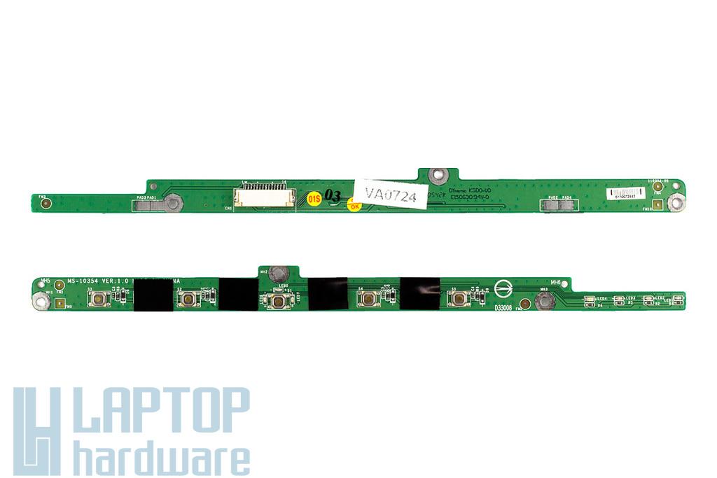 MSI Megabook L725 Bekapcsoló panel új csavarokkal MS-10354