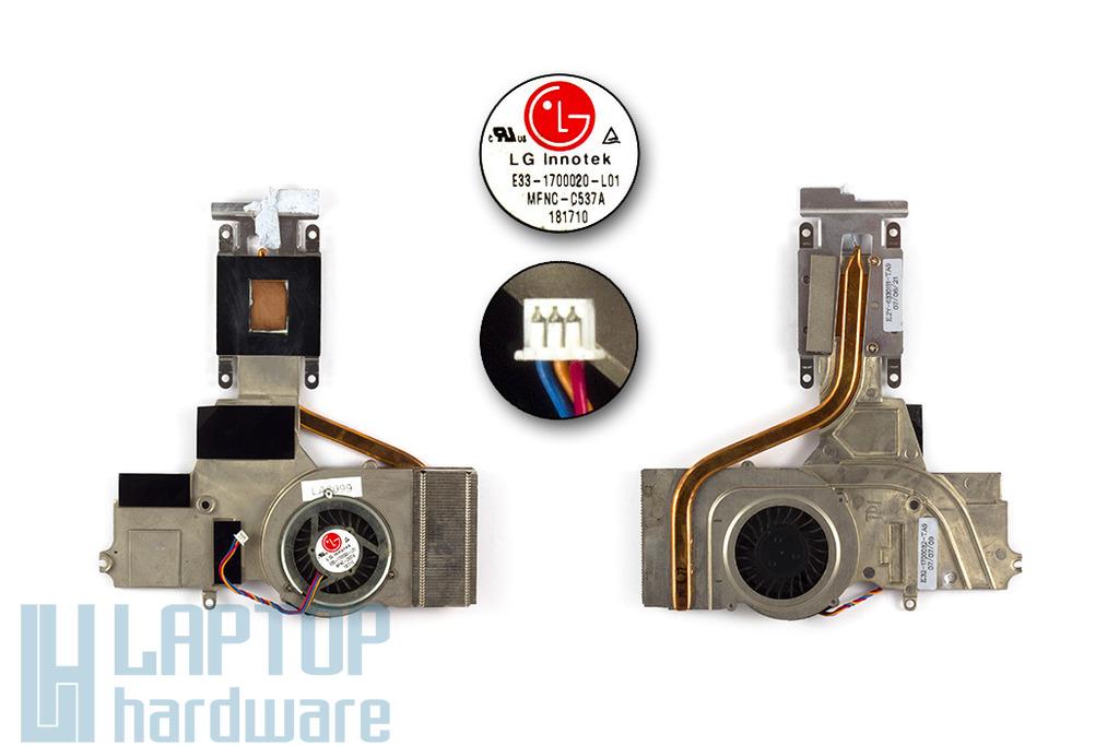 MSI Megabook M670 használt laptop hűtő ventilátor egység (E33-1700020-L01)