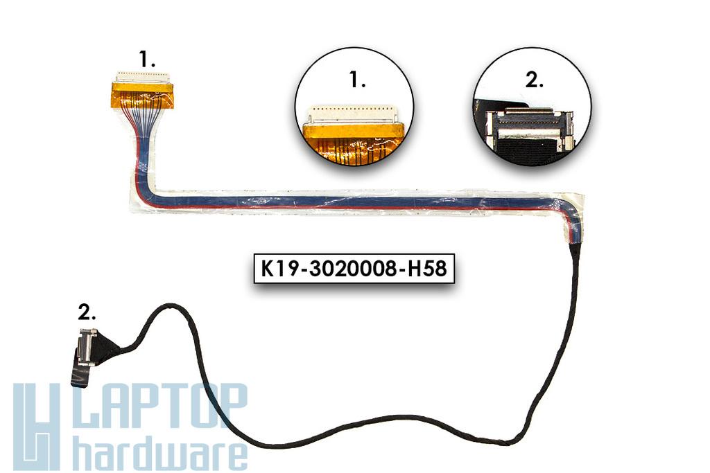 MSI Megabook S262 (MS-1057), Medion Akoya S2210 használt laptop LCD kábel (K19-3020008-H58)