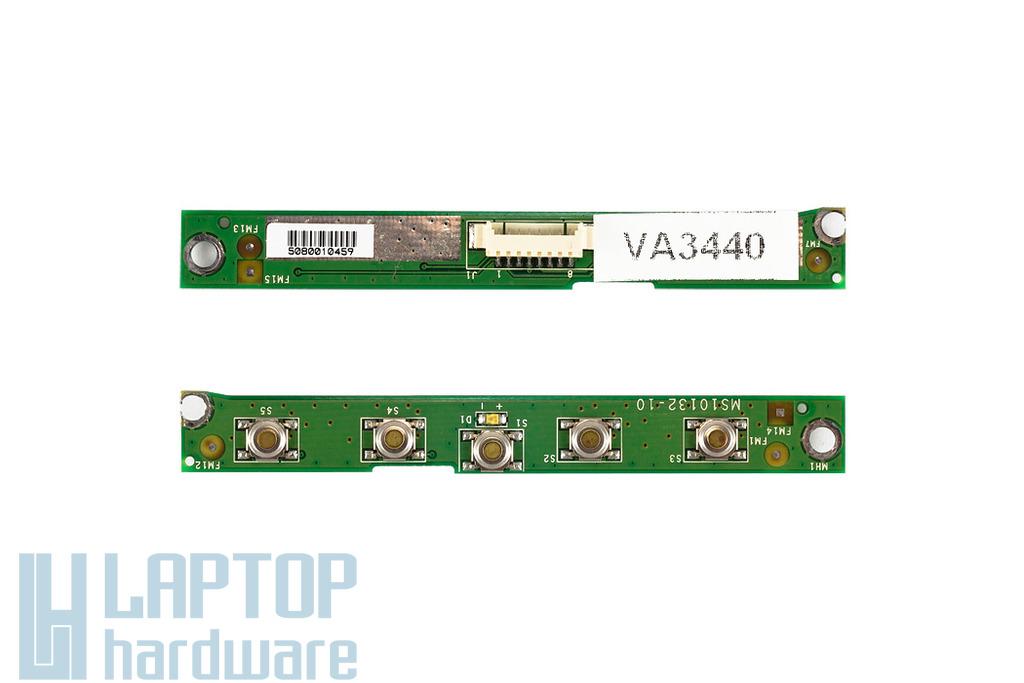 MSI Megabook S270 laptophoz használt gyorsgomb panel (MS10132-10)