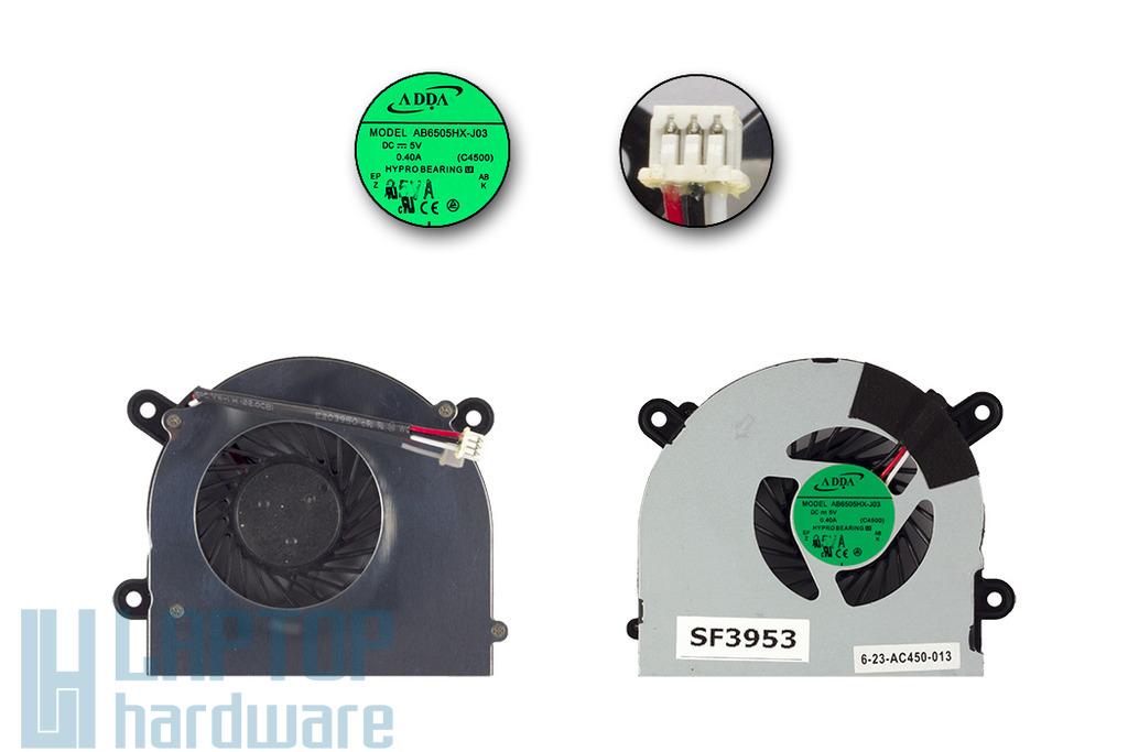 MSI MS-16D3, S6000, X600 gyári új laptop hűtő ventilátor (AB6505HX-J03, E33-0800140-A32)