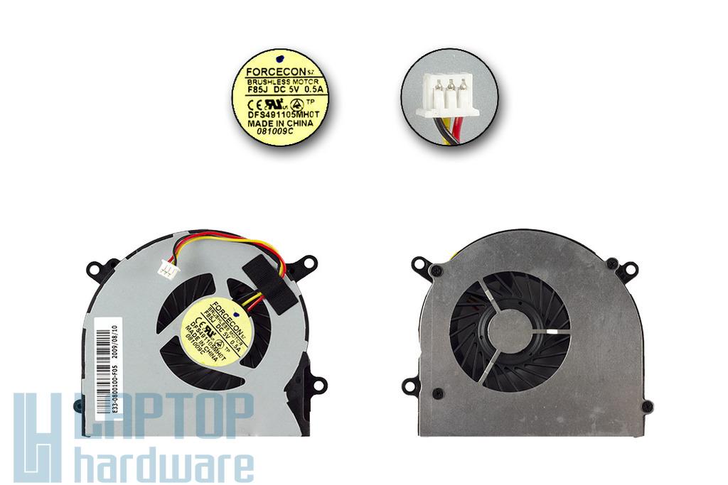 MSI MS-16D3, S6000, X600 gyári új laptop hűtő ventilátor (E33-0800100-F05)