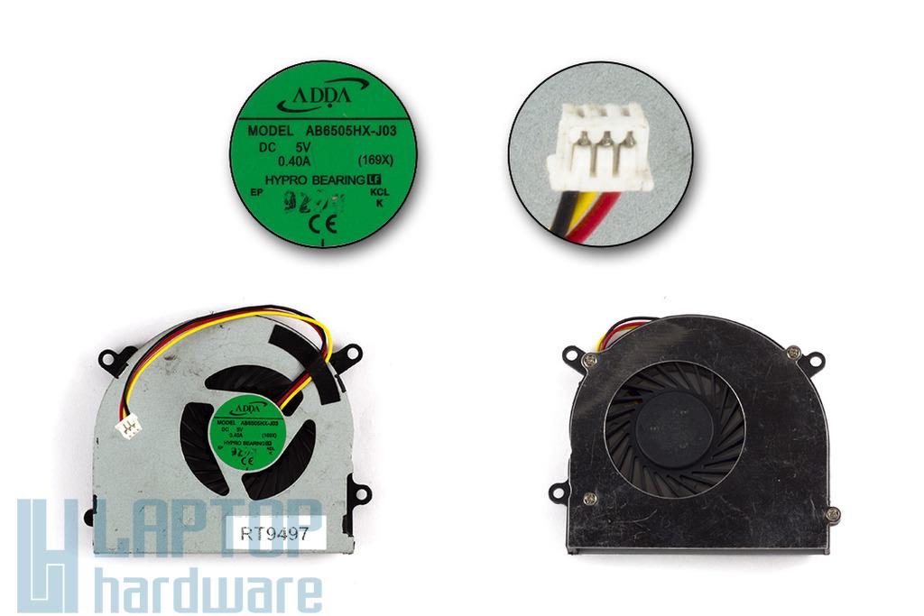 MSI MS-16D3, S6000, X600 használt laptop hűtő ventilátor (AB6505HX-J03)