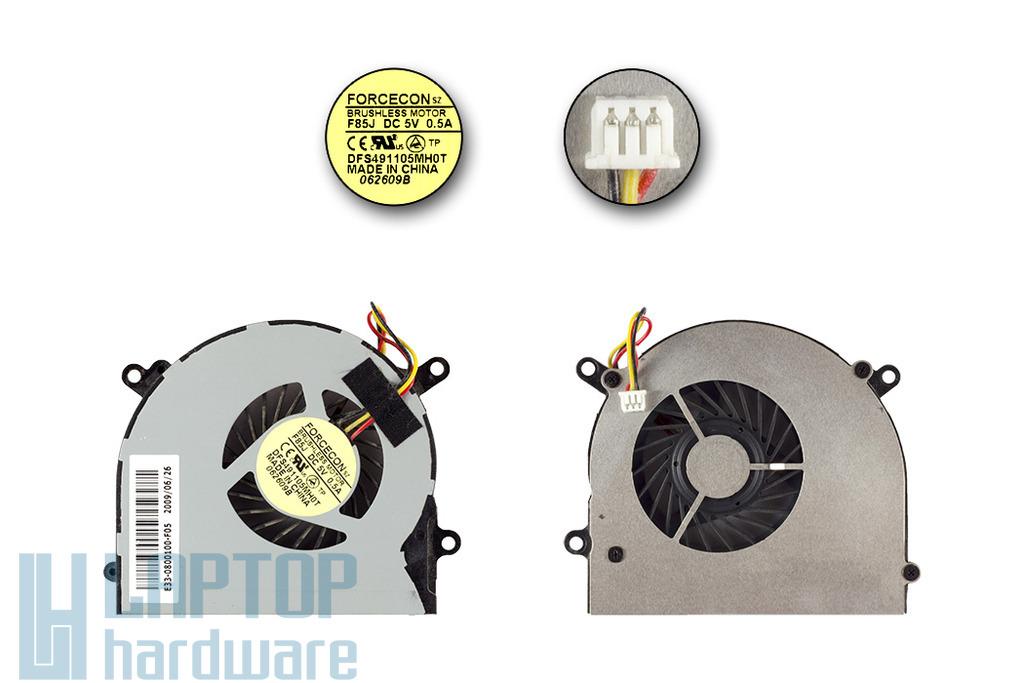 MSI MS-16D3, S6000, X600 használt laptop hűtő ventilátor (E33-0800100-F05)
