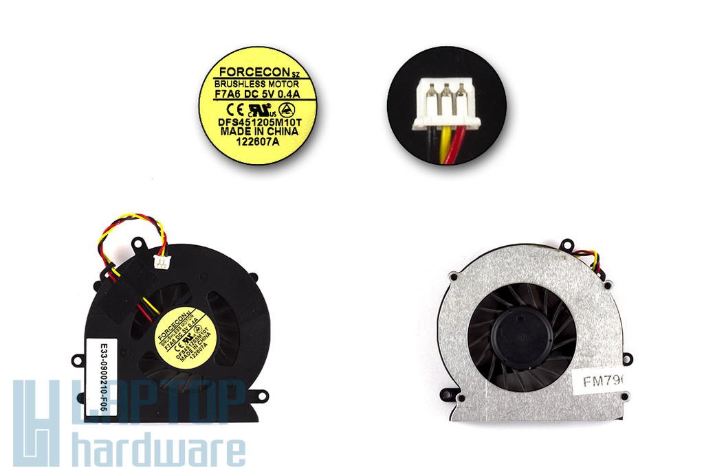 MSI PR200, PR320 (DFS451205M10T-F7A6) használt laptop hűtő ventilátor