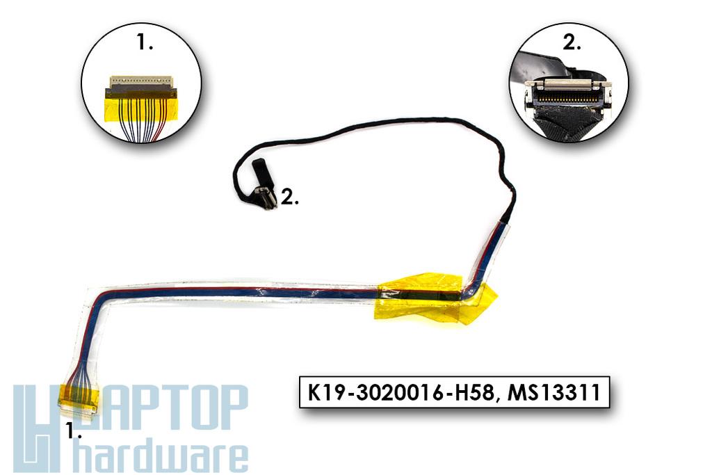 MSI PR201, EX310 használt laptop LCD kijelző kábel (K19-3020016-H58)