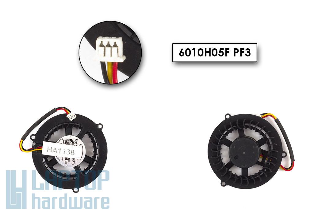 MSI VR200, VR601, PR600, EX600 gyári új laptop hűtő ventilátor (6010H05F PF3)