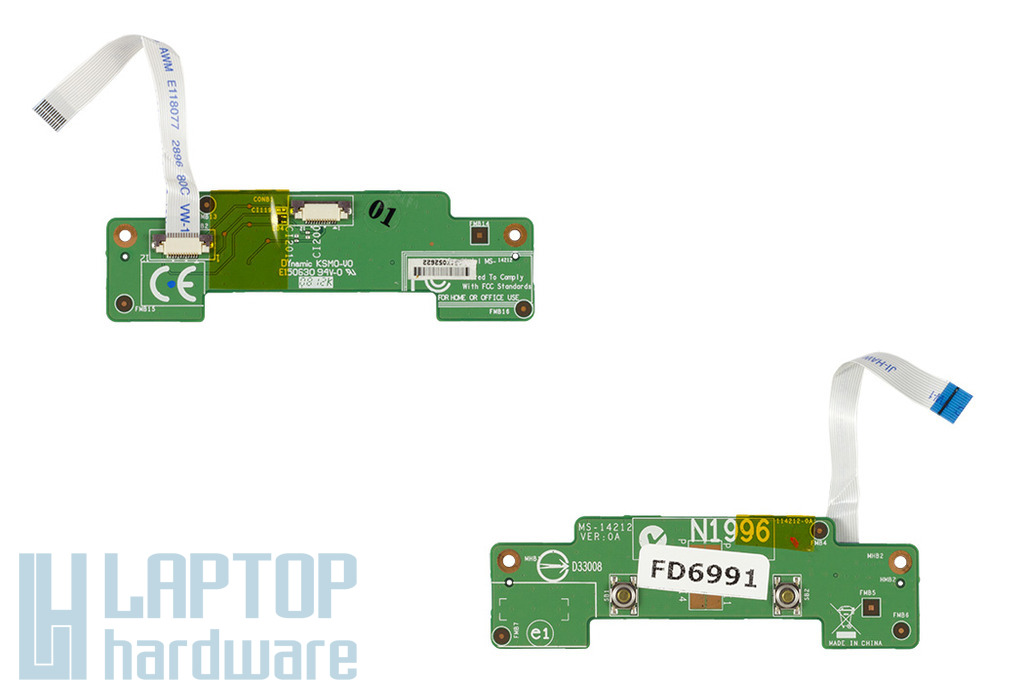 MSI VR420X, MS-1422 laptophoz használt Touchpad gomb panel (MS-14212)
