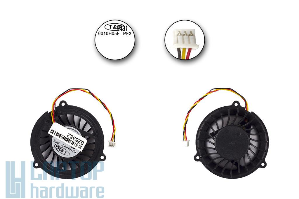 MSI VR200, VR601, PR600, EX600, VR610 laptophoz gyári új CPU hűtő ventilátor  (6010H05F PF3)