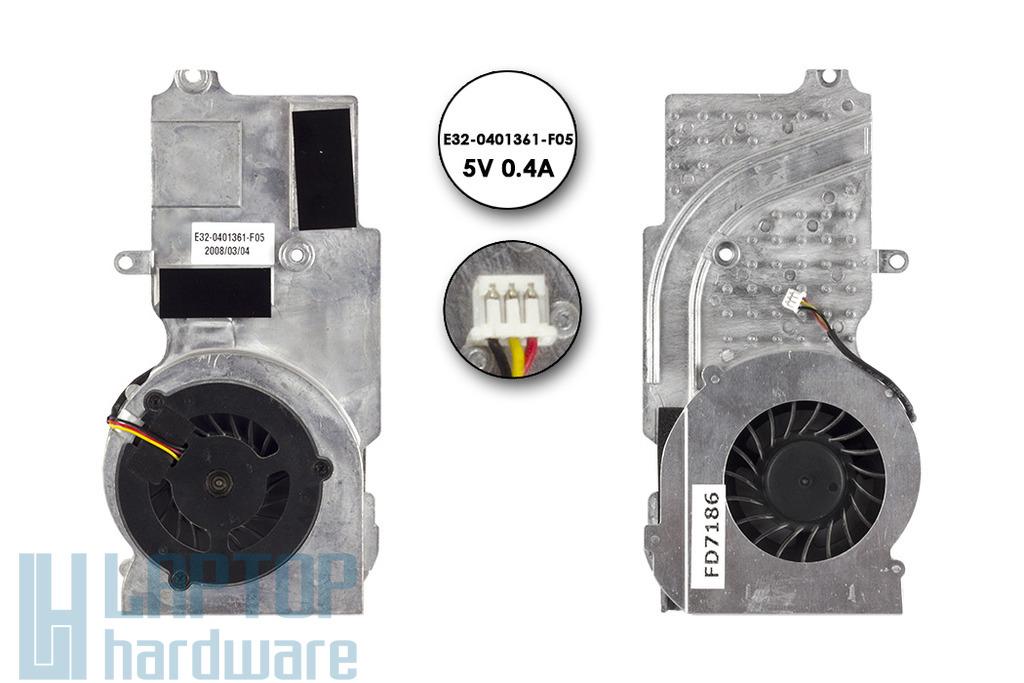 MSI VR610 MS-163B használt komplett laptop VGA hűtés (E32-0401361-F05)