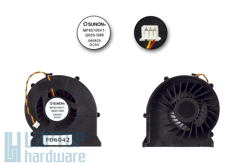 MSI VR610, VR630 gyári új laptop hűtő ventilátor, MF60100V1-Q020-G99