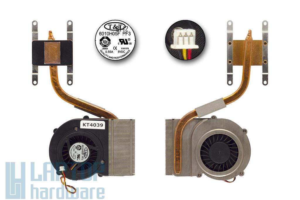 MSI VR610X laptophoz komplett laptop hűtő ventilátor egység, E32-1700040-TA9