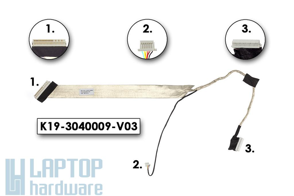 MSI VR630X használt kijelző kábel (K19-3040009-V03)