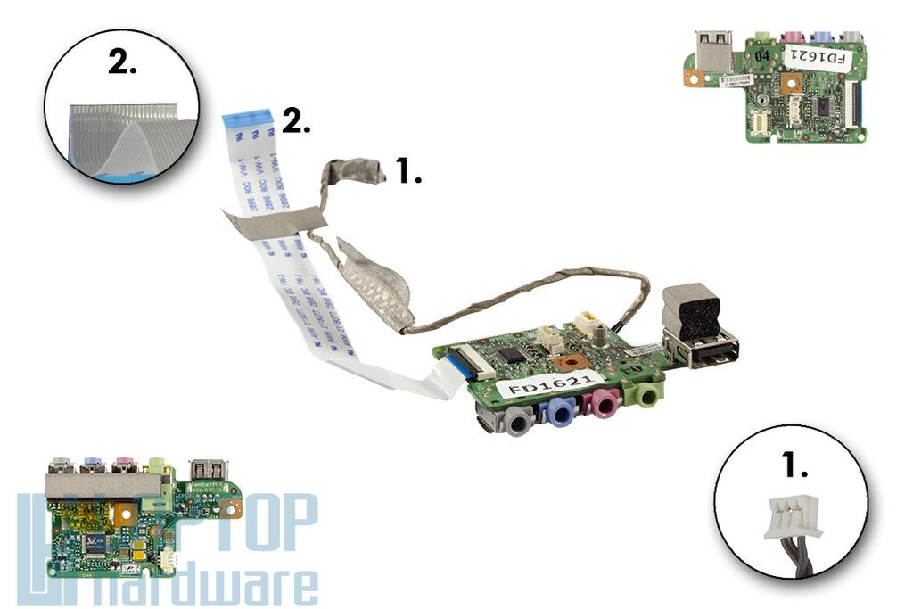 MSI VR630X laptophoz használt Audio/USB panel (MS-1671C)