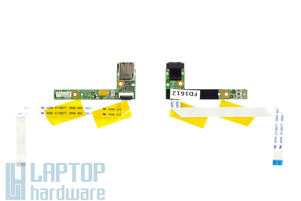 MSI VR630X laptophoz használt bekapcsoló/USB panel (MS-1671)