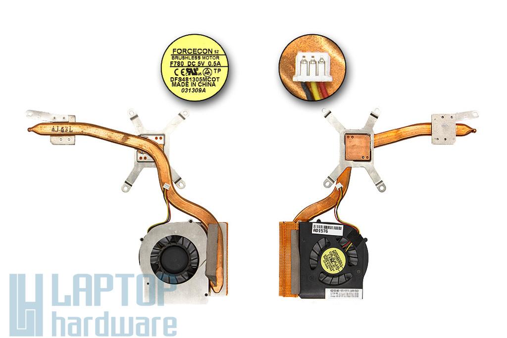 MSI VR705 használt laptop komplett hűtés (DFS481305MC0T, F780, E32-0900550-F05)
