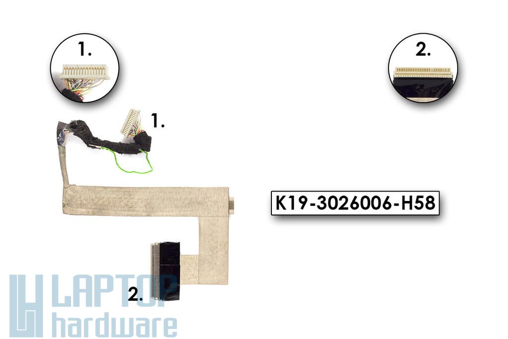 MSI Wind U130, U135 használt kijelző kábel (K19-3026006-H58)