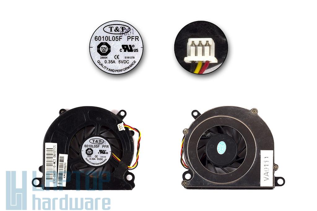 MSI Wind U90, U100, U110, U120, U130 használt hűtő ventilátor
