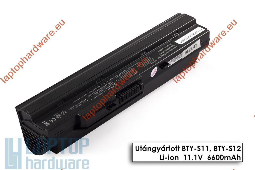 MSI Wind U90, U100, U130 használt helyettesítő 80%-os 9 cellás fekete laptop akku/akkumulátor (BTY-S12)