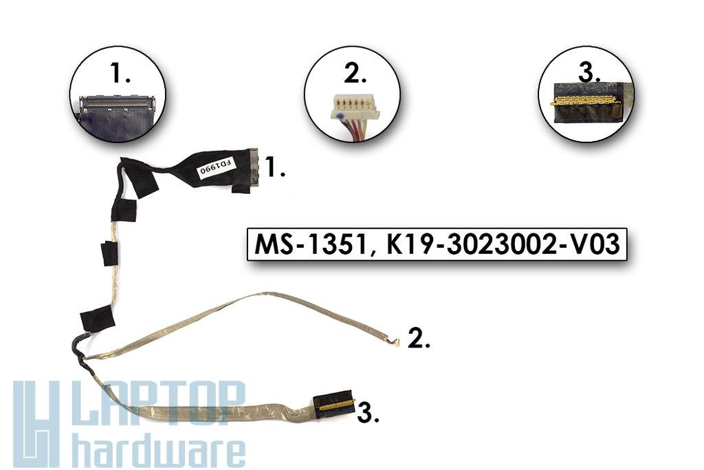 MSI X320, X340 használt kijelző kábel (MS-1351)