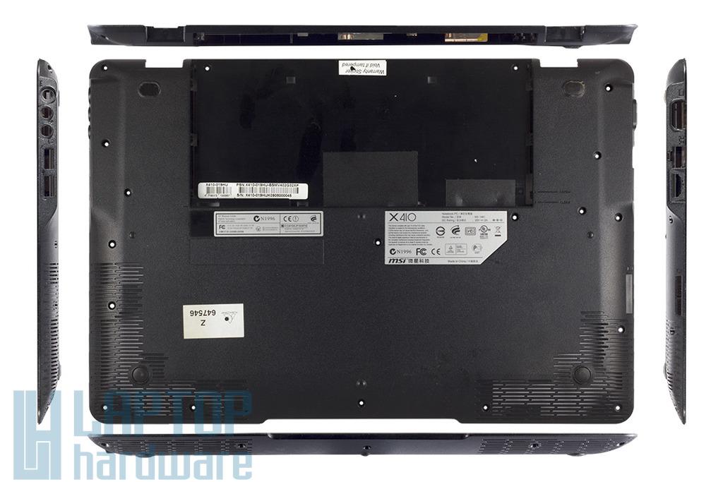 MSI X410 laptophoz használt alsó fedél