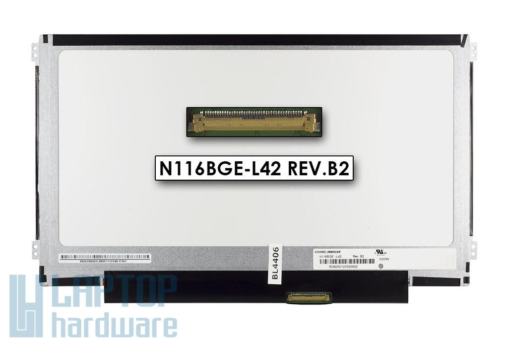 Gyári új fényes 11.6'' HD (1366x768) LED laptop Slim kijelző (csatlakozó: 40 pin - jobb)