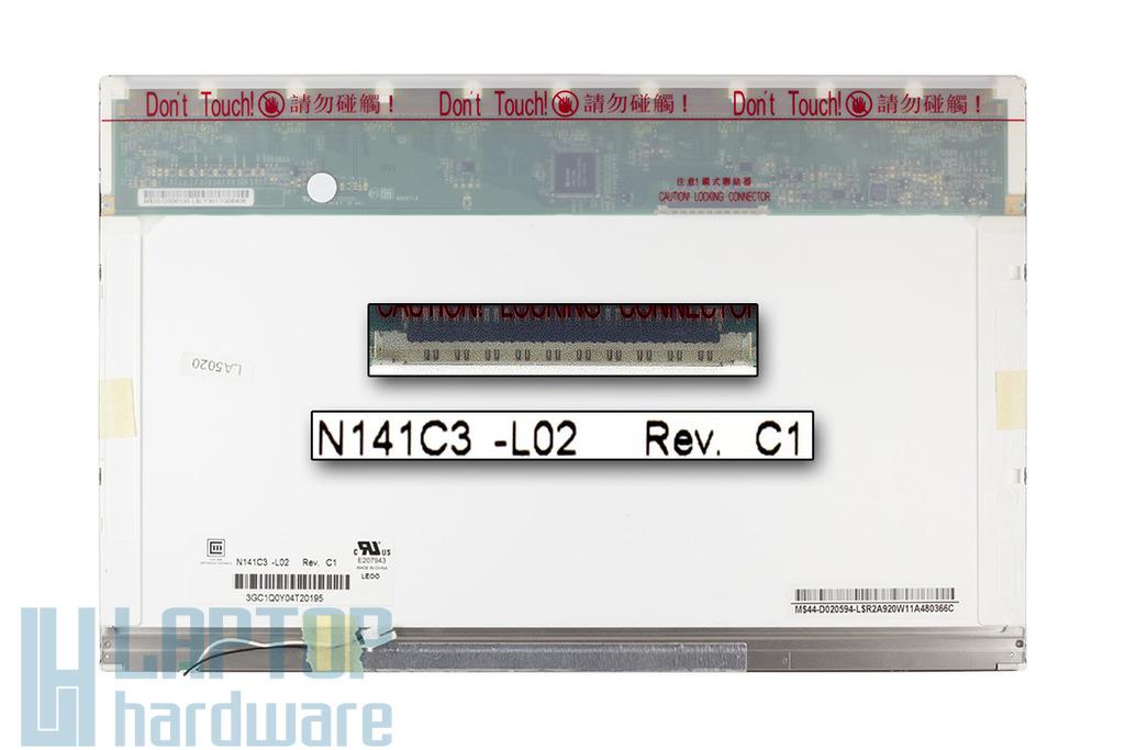 N141C3-L02 WXGA+ 1440x900 CCFL fényes laptop kijelző