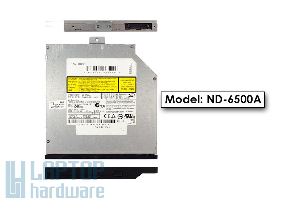 NEC ND-6500A használt PATA (IDE) DVD író előlappal Fujitsu-Siemens li1705 laptophoz