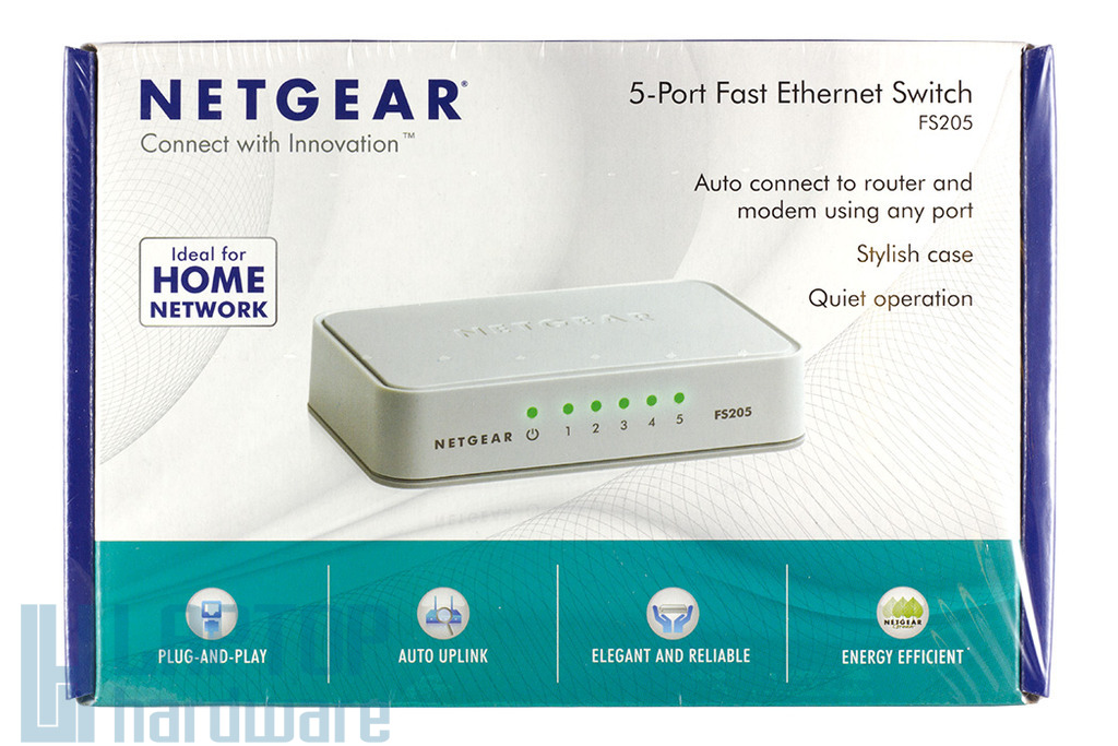 Netgear 5 portos, 10/100Mbps Fast Ethernet Switch, FS205