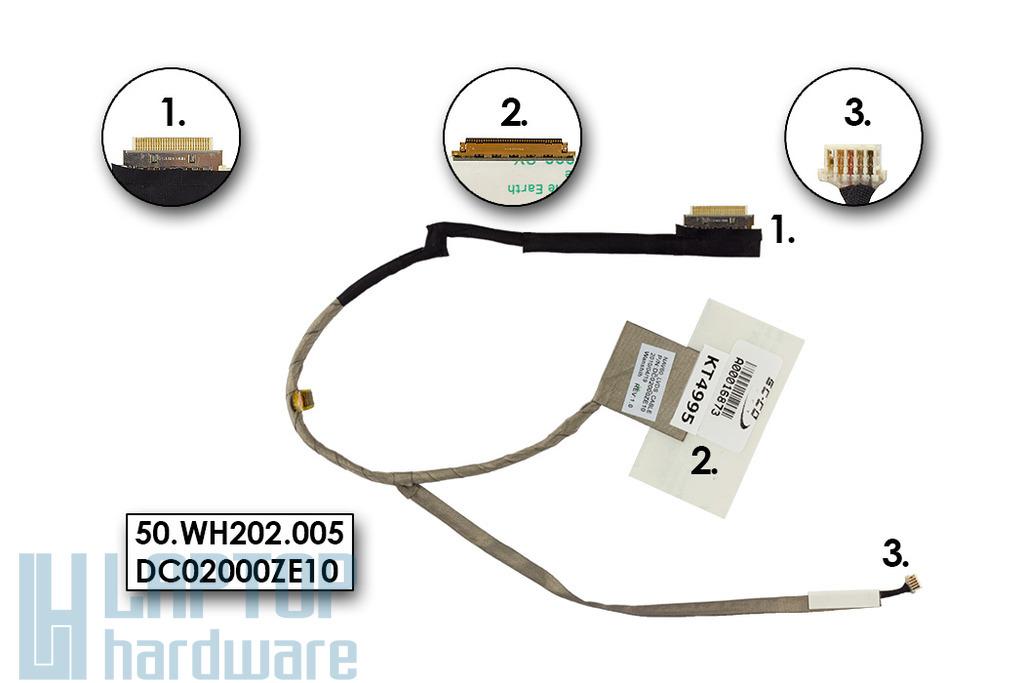 Packard Bell DOT S gyári új laptop LCD kijelző kábel, 50.WH202.005