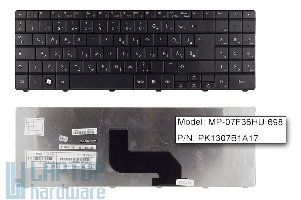 Packard Bell EasyNote L65, TJ61, TJ65 gyári új magyar laptop billentyűzet (KB.I170G.097)
