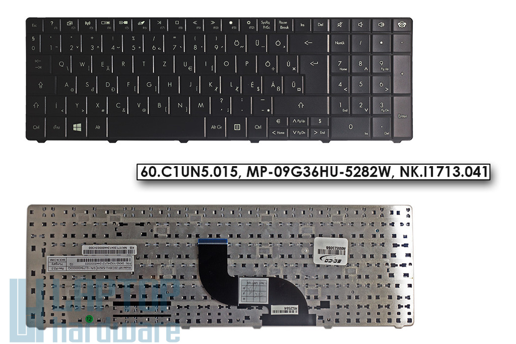 Packard Bell EasyNote LE11BZ, LE69KB gyári új magyar fekete laptop billentyűzet (Win8) (60.C1UN5.015, MP-09G36HU-5282W, NK.I1713.041)