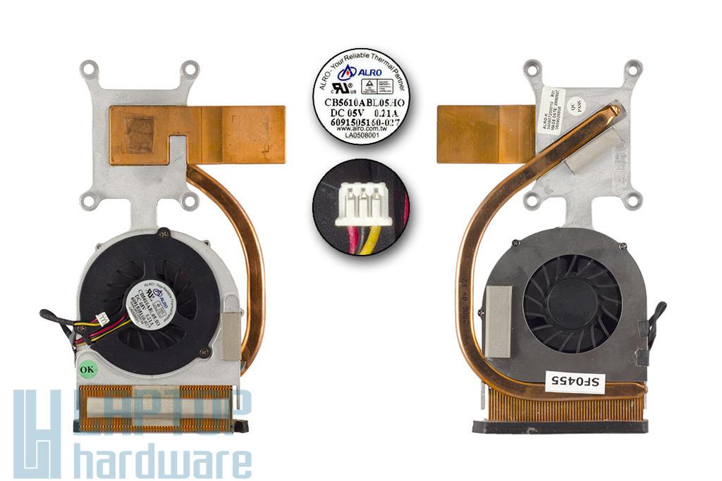 Packard Bell EasyNote MV35 használt komplett laptop hűtő ventilátor egység (340807200010)