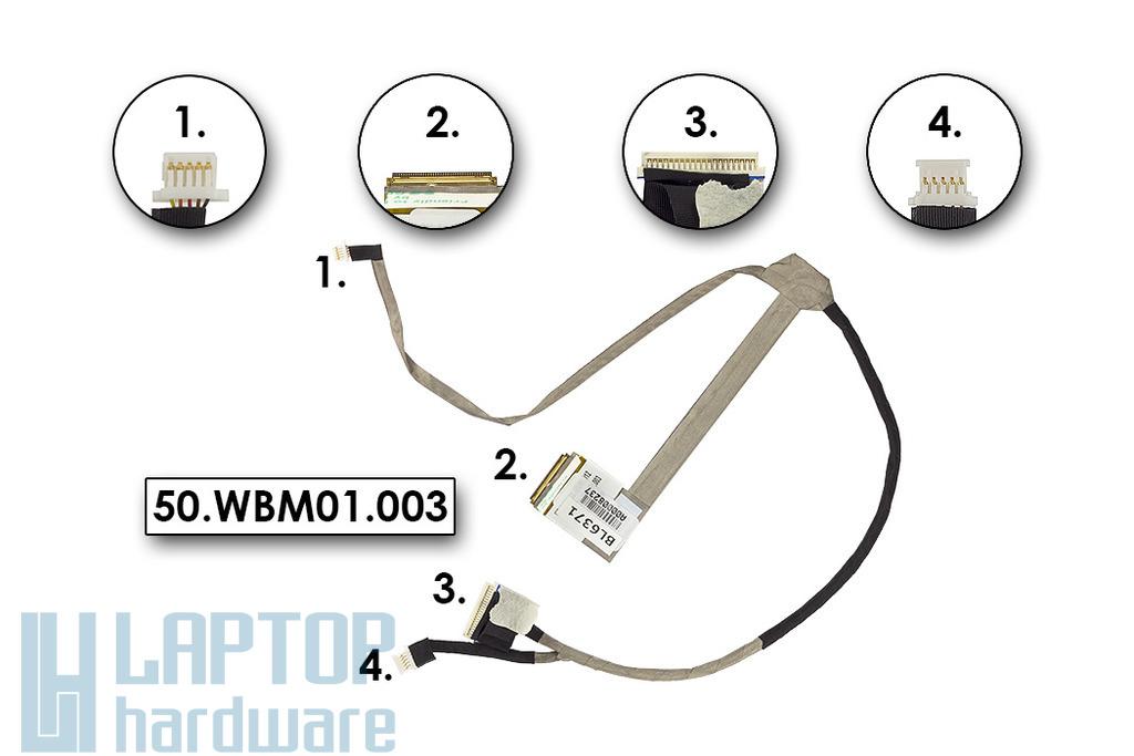 Packard Bell EasyNote TJ61, TJ65 gyári új LCD kábel, 50.WBM01.003